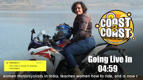 Coast 2 Coast, Life With The Motorcycle Our guest this week, Shilpa Balakrishnan, will be on live from her home half a w…