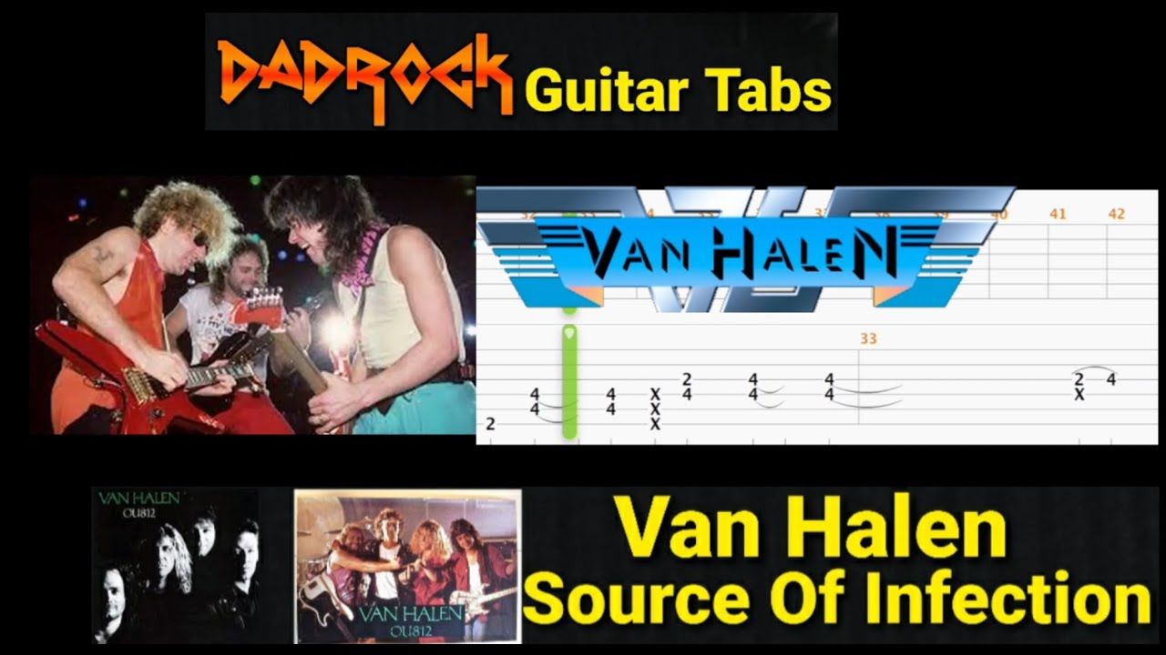 Source Of Infection – Van Halen – Lead  Guitar TABS Lesson