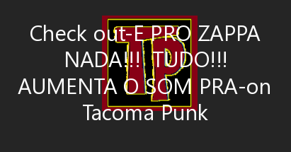 E pro Zappa nada!!!  TUDO!!! Aumenta o som pra ouvir Uncle Remus!  Happy birthday to our forever loved Frank Zappa! ……
