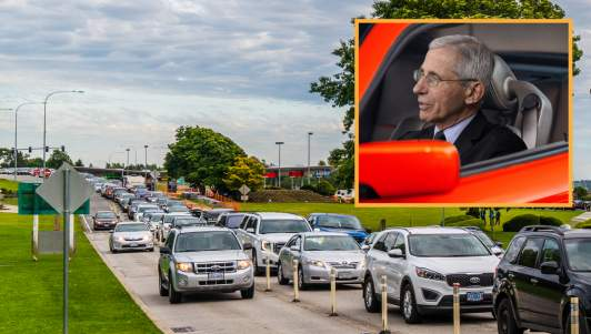 McDonald's Drive Thru Backs Up For Miles As Dr. Fauci Keeps Changing His Mind