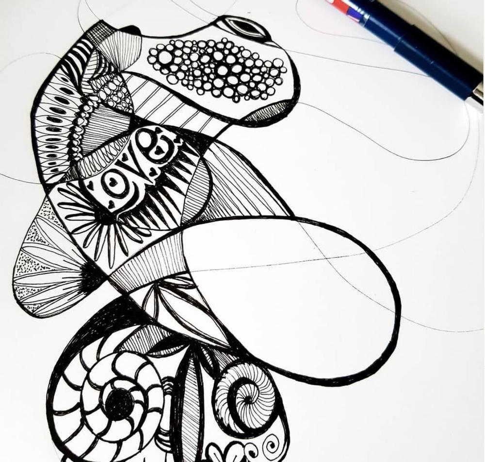 Doodling sessions for Mindful Meditation